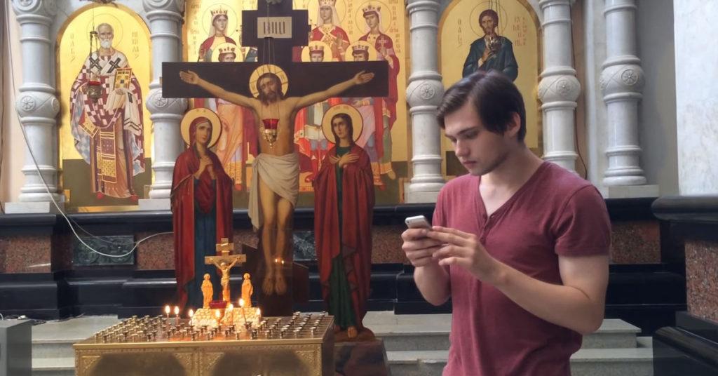 Руслан Соколовский в храме