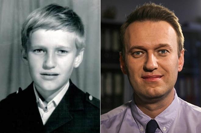 Алексей Навальный в детстве